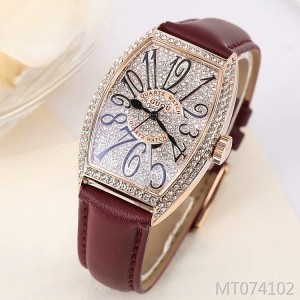 Ancient European wine barrel shaped diamond-studded fashion ladies watch