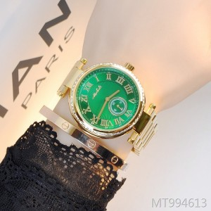 Martha Lily Roman Romance with agate green ladies watch