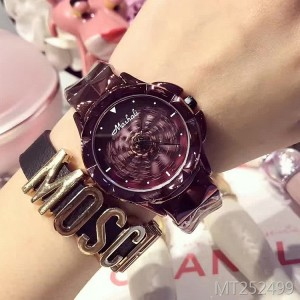 Masary new steel belt watch purple female watch
