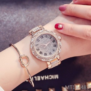 Marshal Gold Shell Luxury Rhinestone Women's Watch