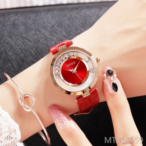 GUOU comes to run the new quicksand rhinestone belt waterproof ladies watch