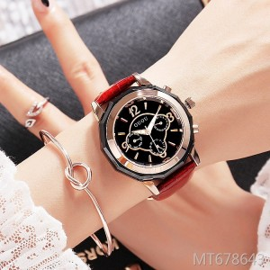 GUOU new durable luxury personality fashion big dial ladies watch