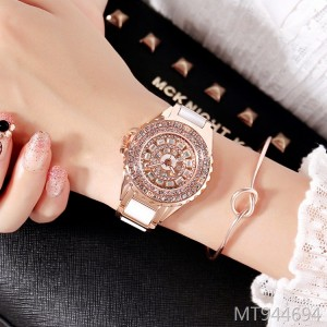 Marshall personality fashion trend full diamond women's watch