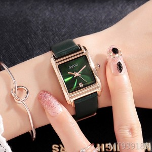 Ancient European square ladies belt watch simple female watch