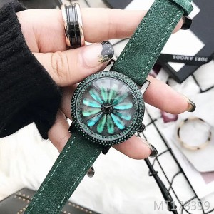 Marshall's new trend personality green when running diamond-studded women's watch