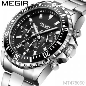MEGIR multi-function fashion sports business calendar luminous men's watch