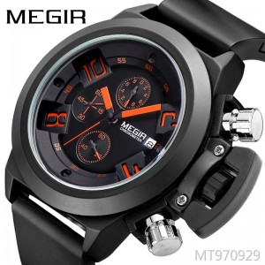 MEGIR multi-function sports silicone belt hot sale anti-calendar men's watch