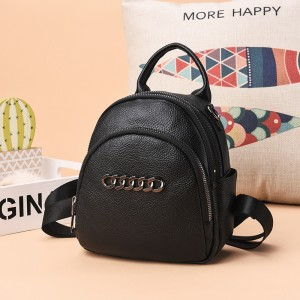 2019 new trend soft leather fashion simple and versatile leisure travel bag