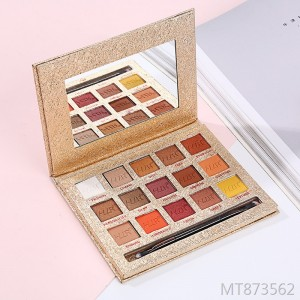 Explosive earth color gold and silver foil eye shadow tray