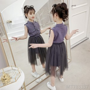 2019 new summer dress girl puff princess dress