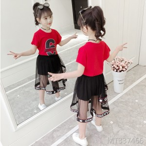 2019 new summer children's girls foreign princess dress