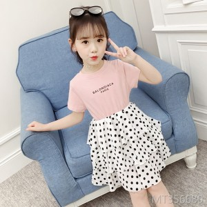 2019 new girls summer ocean wave dress