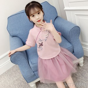 2019 new children's classical cheongsam skirt