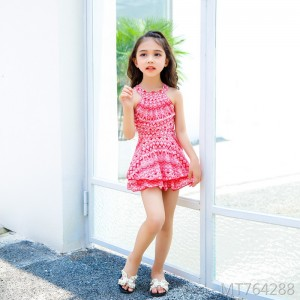 2019 new children's one-piece skirt swimsuit