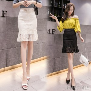 2019 new lace slim slimming bag hip skirt