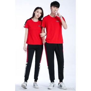 2019 new summer couples casual sports suit two-piece suit