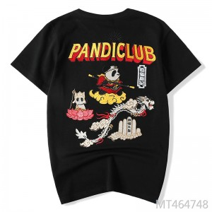 Chinese style brand national tide men's embroidered panda T-shirt male