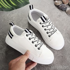 2019 new white shoes female Korean version of the lace-up casual shoes