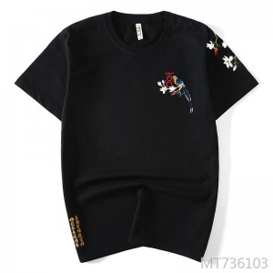 New Chinese style original magpie embroidery short-sleeved t-shirt for men and women