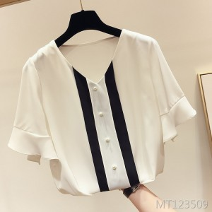 2019 new foreign air loose small fresh shirt top