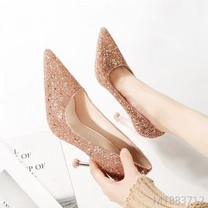 European and American sexy pointed stiletto shallow mouth high heels