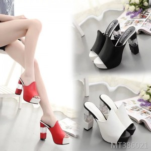 2019 spring new women's shoes handmade thick with high heels