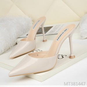 European and American sexy pointed shallow mouth high heels