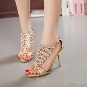 2019 new sandals rhinestone banquet shoes wedding shoes