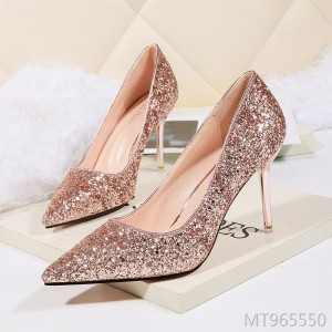 European and American sexy pointed high heels