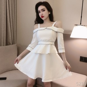 The new female foreign air French small dress carefully machine two-piece