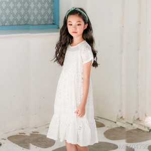 Girls' dress in the big children's lace princess dress