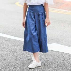 2019 summer Korean wide-leg pants explosion models jeans nine points