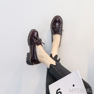 Flat single shoes female 2019 new spring retro British small shoes