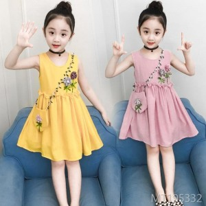 Korean children's princess flower sleeveless dress
