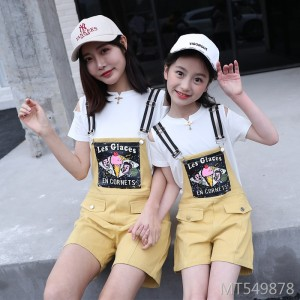 Korean version of the strap shorts suit female women's jumpsuit short-sleeved fashion two-piece
