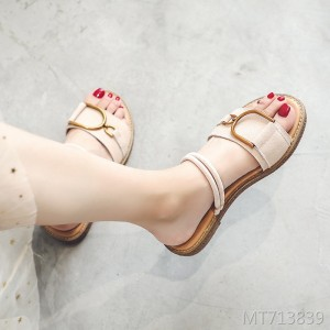 Leather sandals female 2019 summer new Korean version of the large size