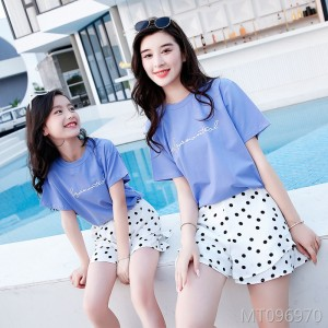 2019 fashion new mother and women polka dot shorts two sets of tide