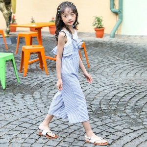 Girls striped jumpsuit new 2019 fashion casual