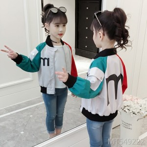 Autumn big boy fashion casual girl letter jacket