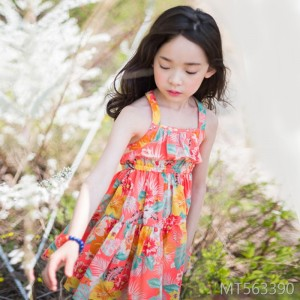 2019 summer floral dress Korean girls sling princess dress