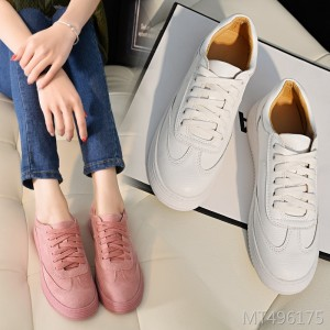 Korean version of the spring and autumn new thick-soled lace white shoes women's sports shoes