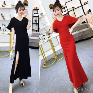 Long party party party host dress slim skirt