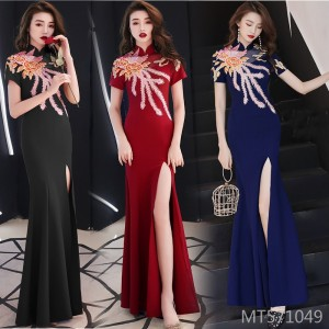 Slim banquet host Slim sexy fishtail dress female