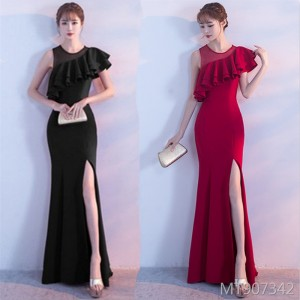 Banquet dignified atmosphere long fishtail celebrity annual meeting host long skirt