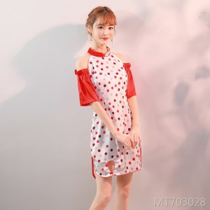 Literary color matching retro Chinese style new improved version cheongsam