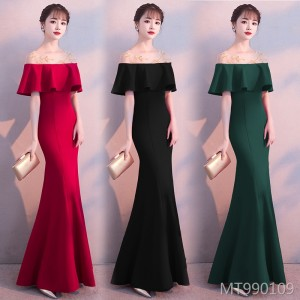 Banquet evening dress skirt female autumn dress dress