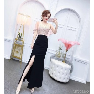 Celebrity temperament long high-end slim annual meeting evening dress