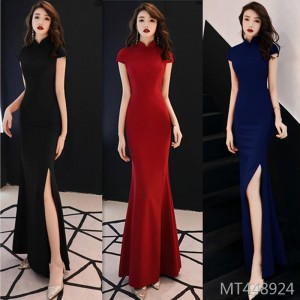 Temperament cheongsam noble and elegant slim dress banquet dress toast clothing
