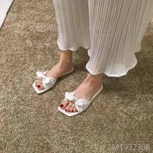 Net red ins tide bow flat fashion versatile slippers