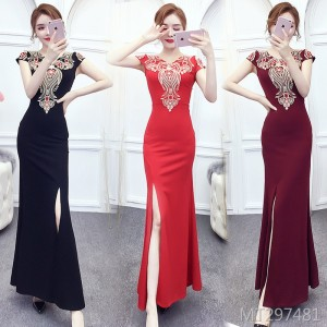 Elegant slim fishtail toast clothing bride bridesmaid dress